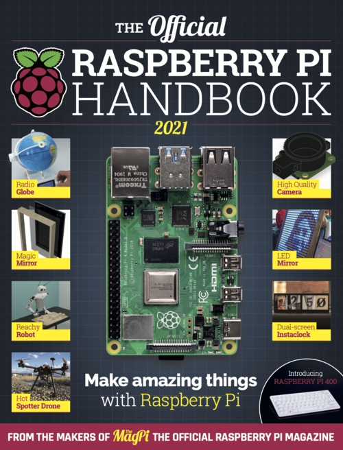 Cover of The Official Raspberry Pi Handbook 2021