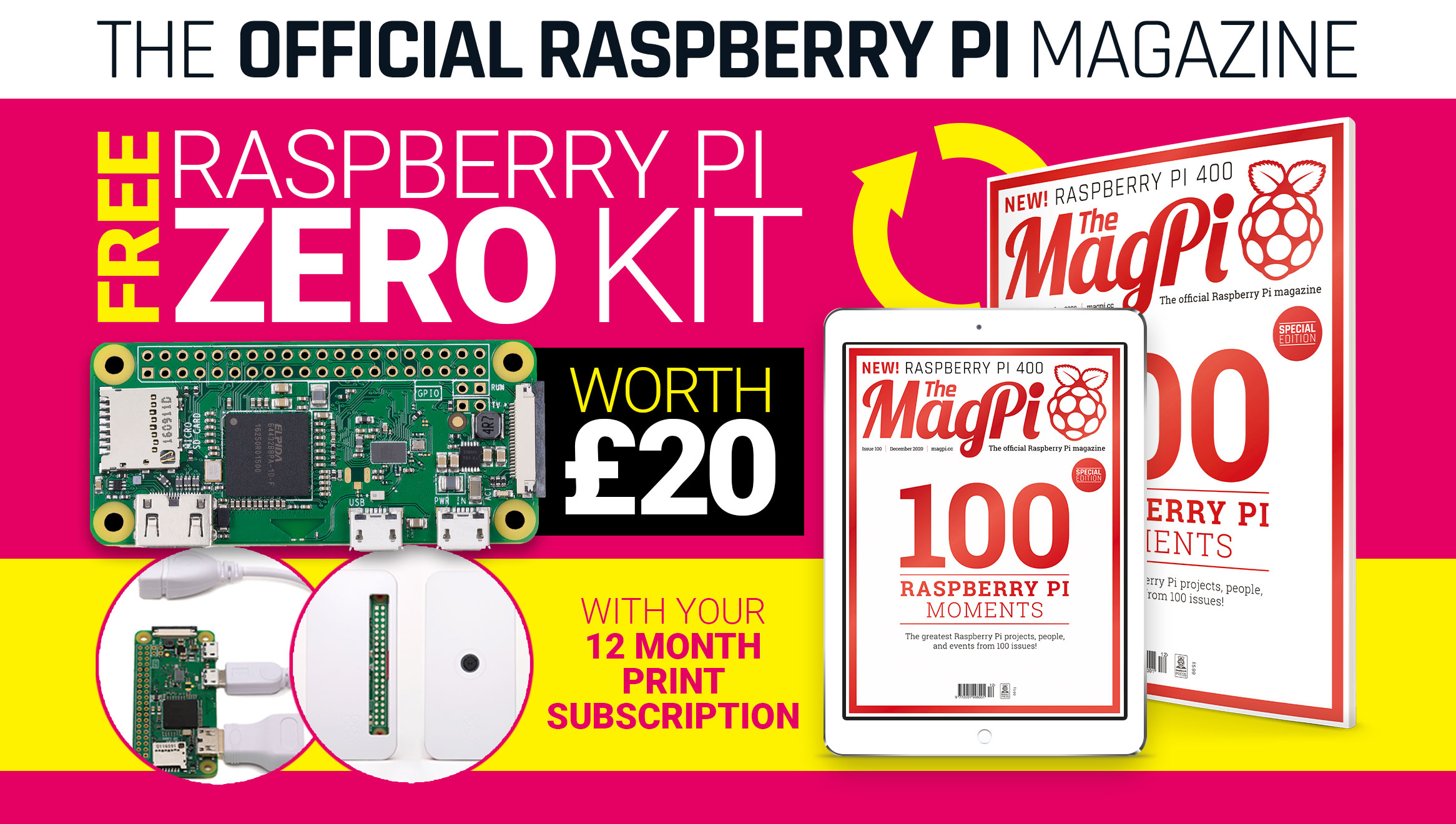 The MagPi issue 100 cover