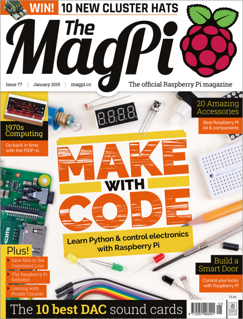 The MagPi issue 77 cover