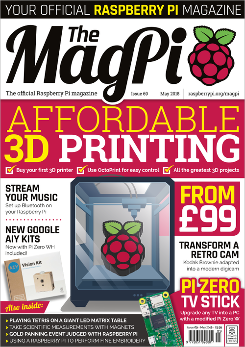 The MagPi issue 69 cover