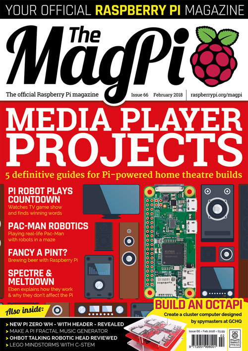 The MagPi issue 66 cover
