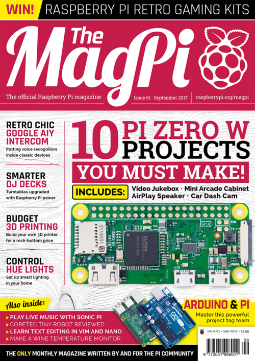 The MagPi issue 61 cover