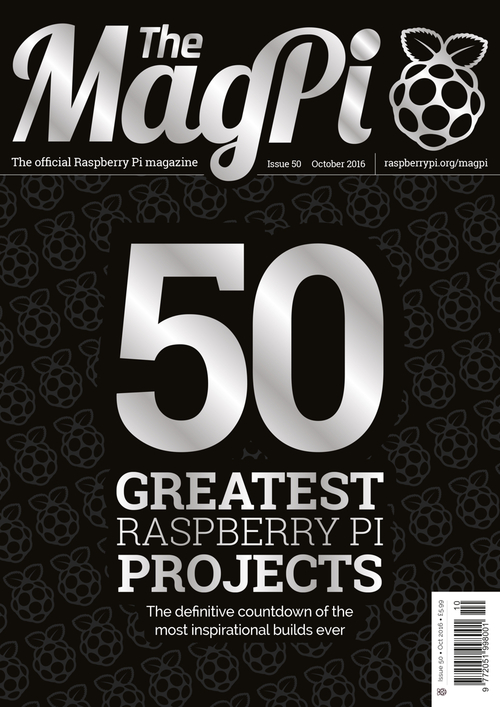 The MagPi issue 50 cover