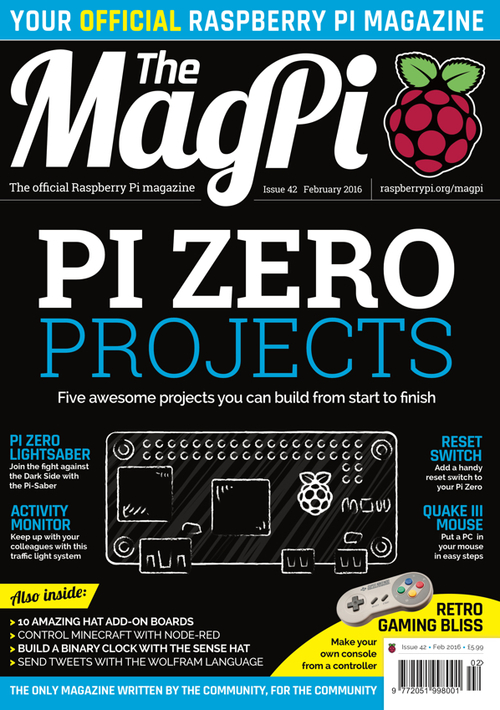 The MagPi issue 42 cover