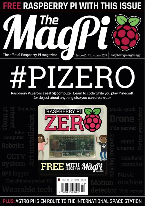 The MagPi issue 40 cover
