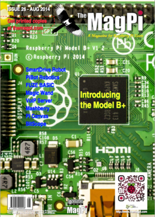 The MagPi issue 26 cover