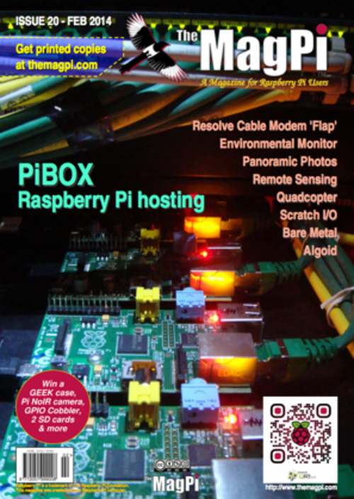 The MagPi issue 20 cover