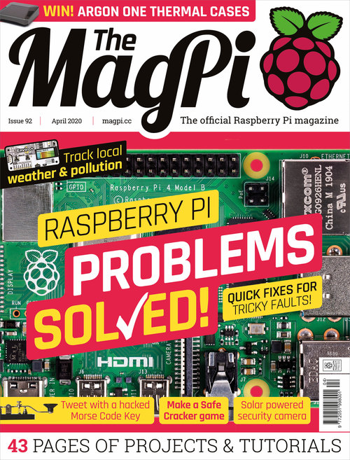 The MagPi issue 92 cover