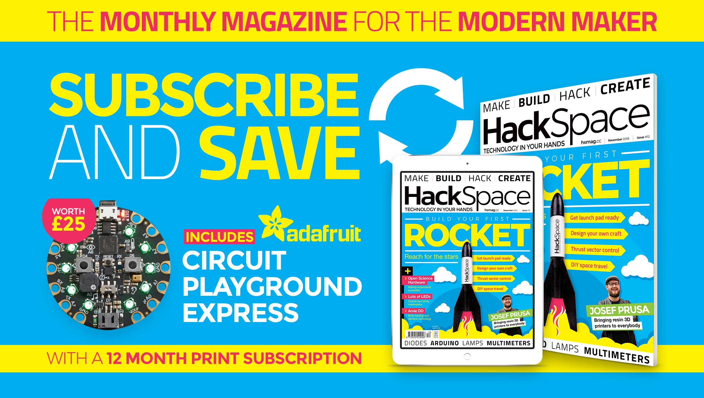 Subscribe to HackSpace magazine magazine