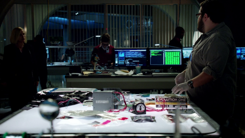 The best thing that happens in CSI Cyber is when a man plugs an iPad into a server and starts screaming about source code