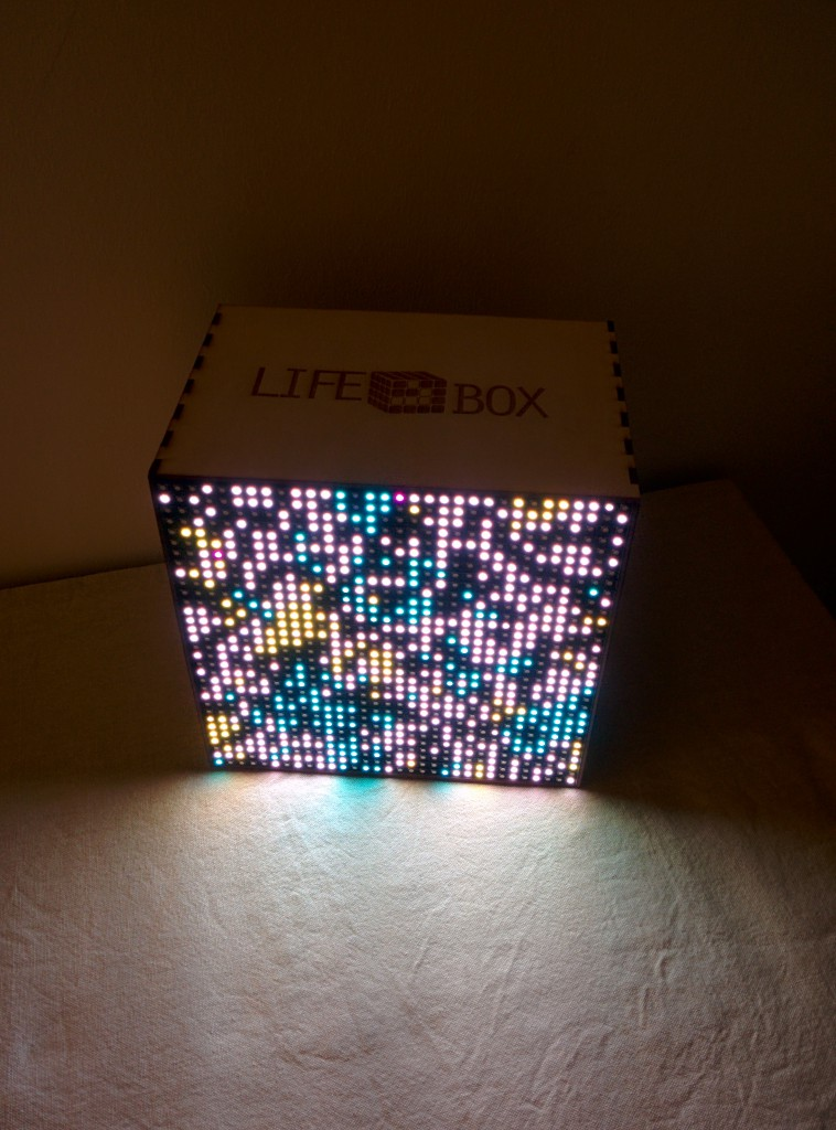 The lifebox turned on at night