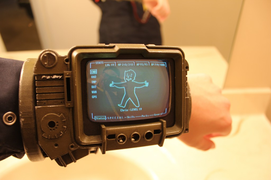 Pipboy replica on someone's wrist