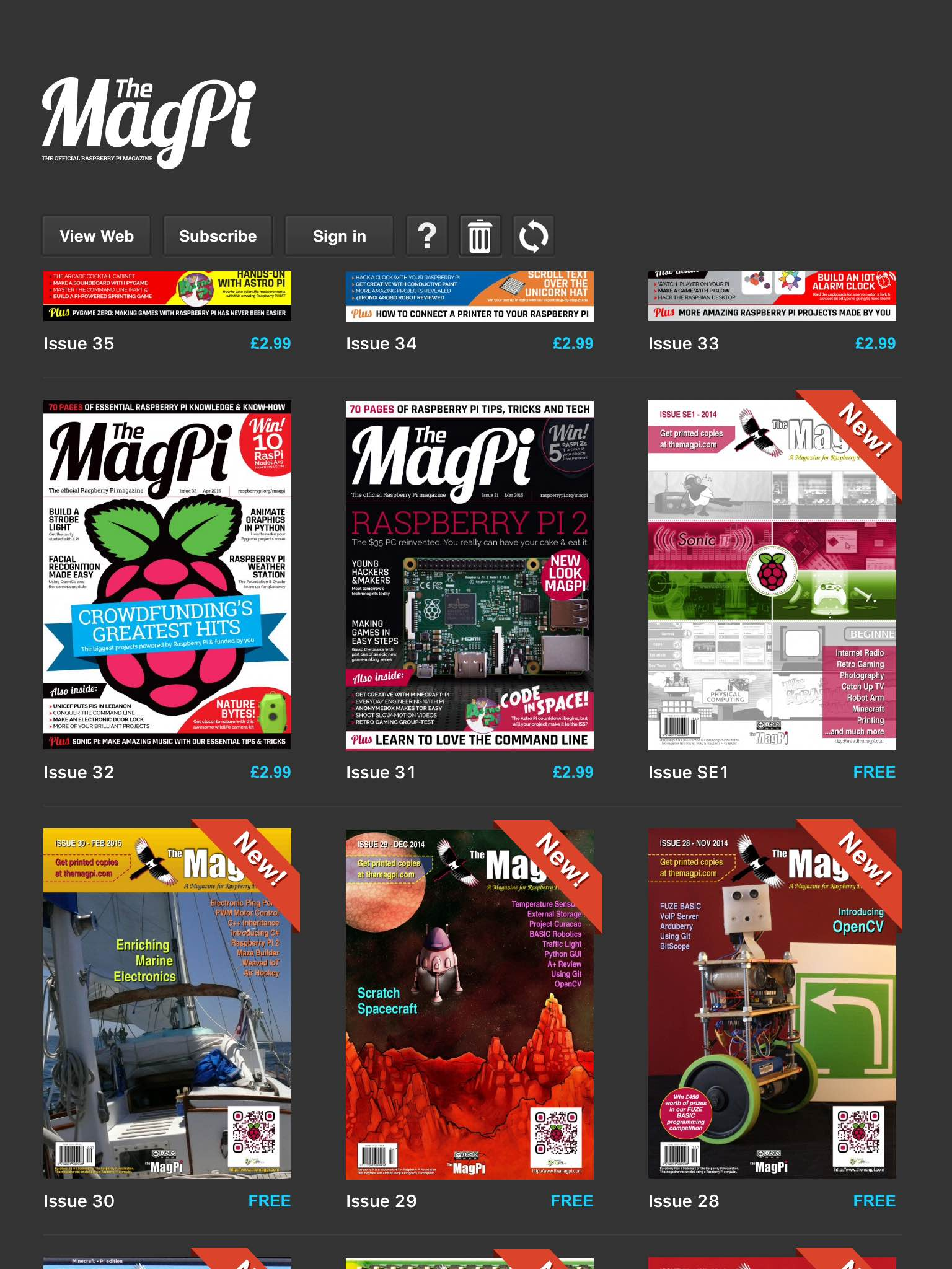 Old and new, every issue of the MagPi is now available