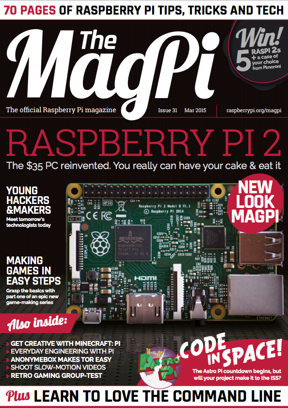 The new look for The MagPi last February