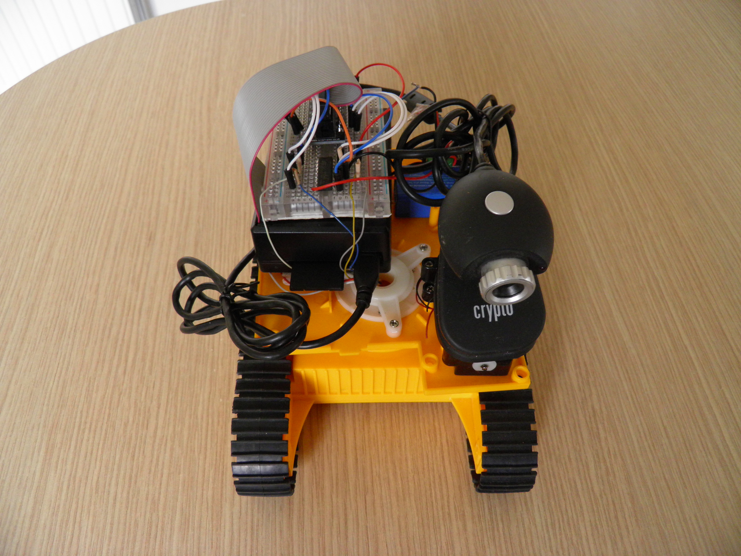 A USB camera for the Spy Rover worked better for this build