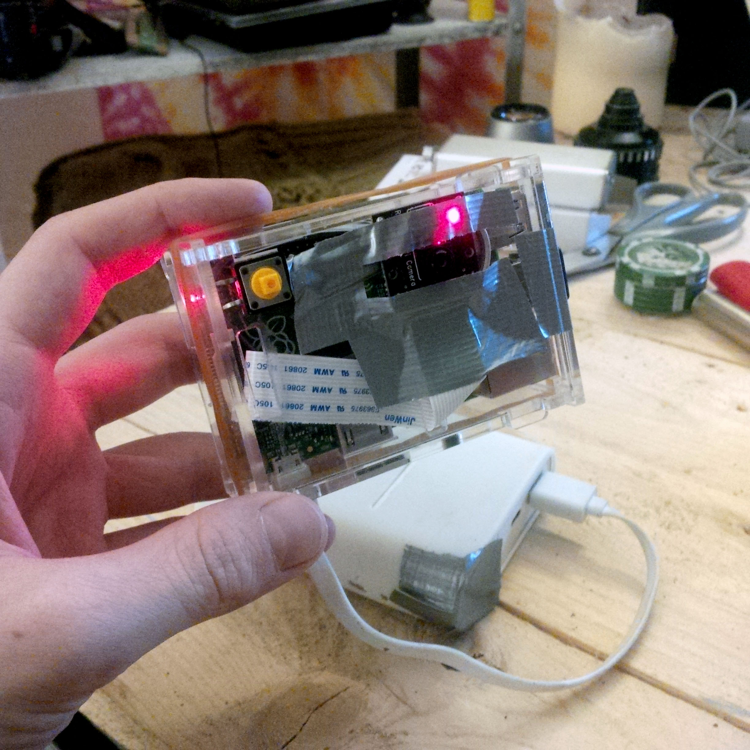 Here's the very simple setup used for the Eye-Pi