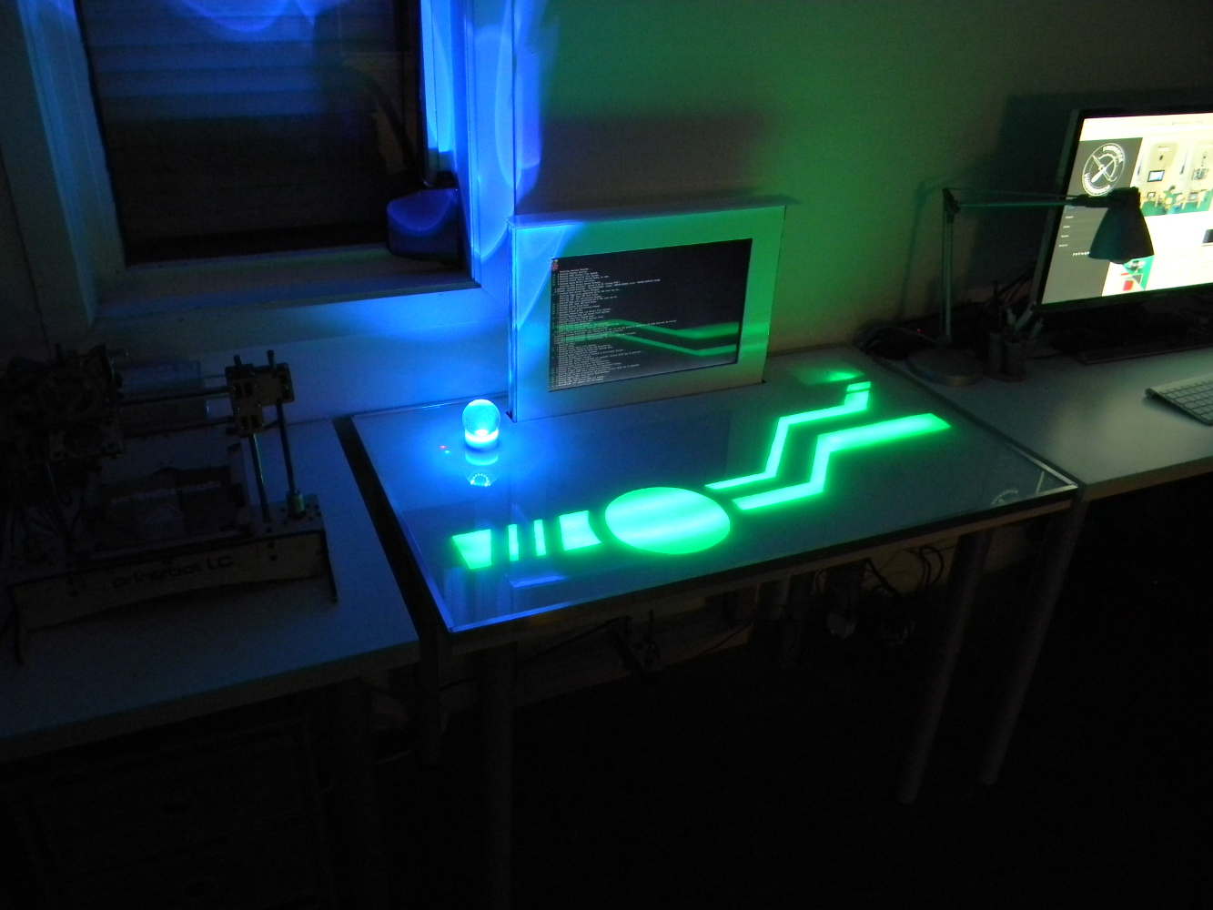 The light patterns are inspired by Tron