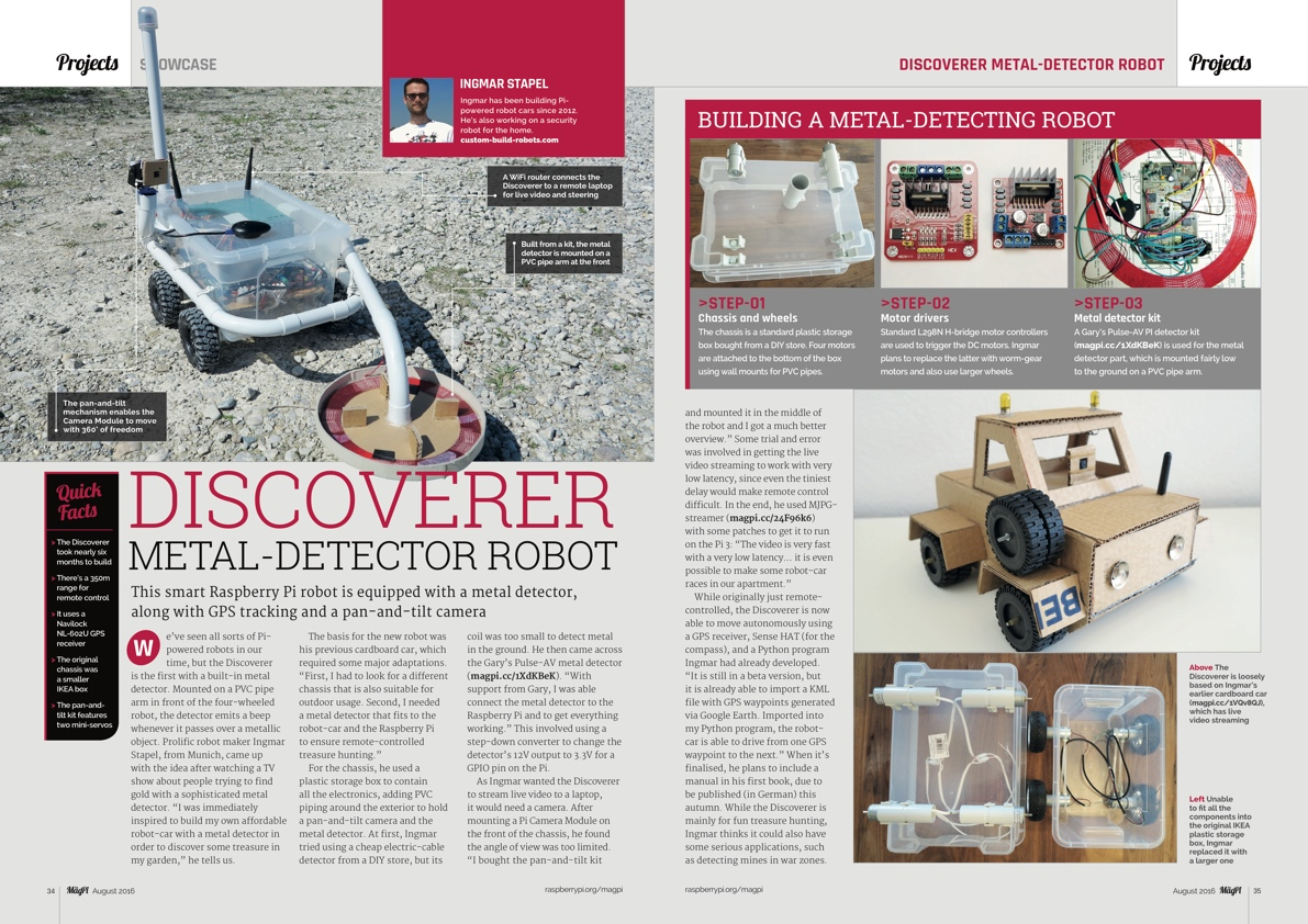 Issue 48 The Magpi Magazinethe Magazine Pi Metal Detector Circuit Want To Know More View Contents Pages For Details Of Every Article