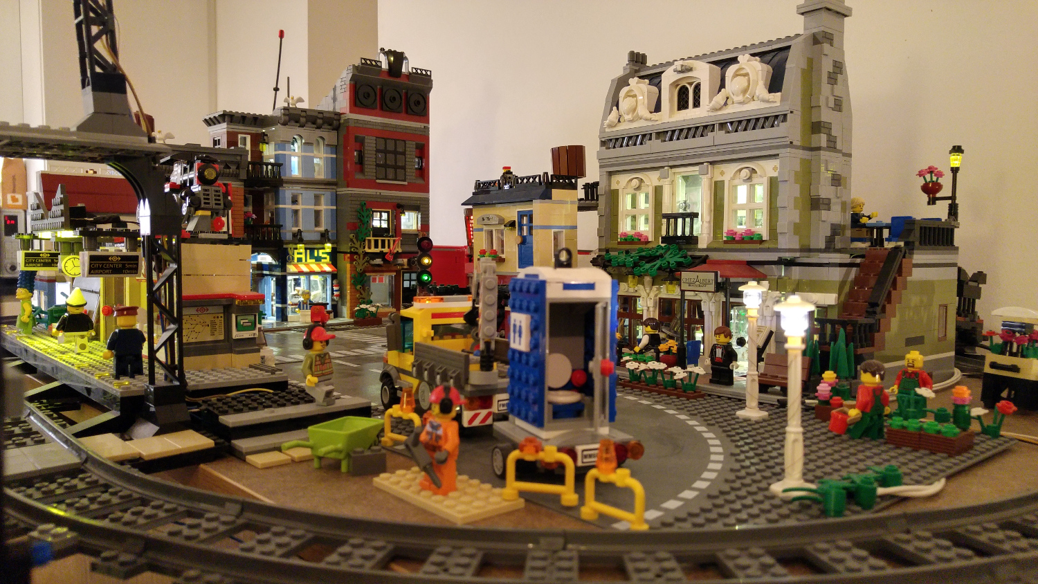 Be careful of the roadworks in the LEGO city