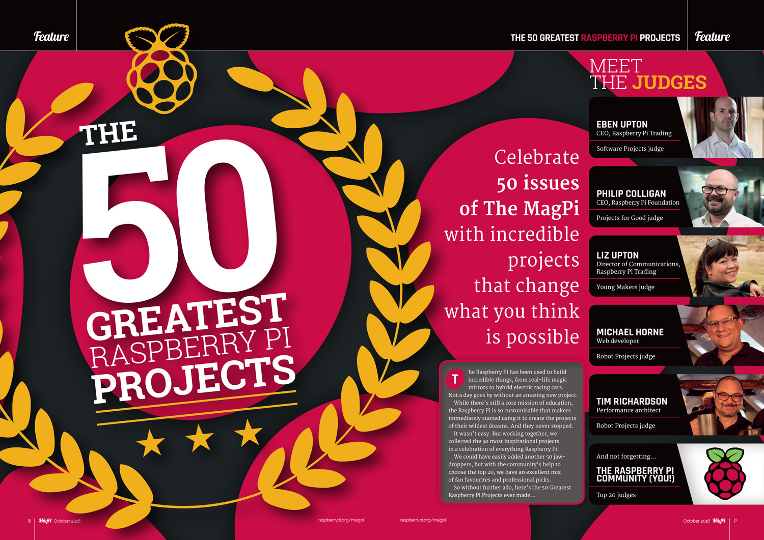 MagPi 50: Greatest Projects feature