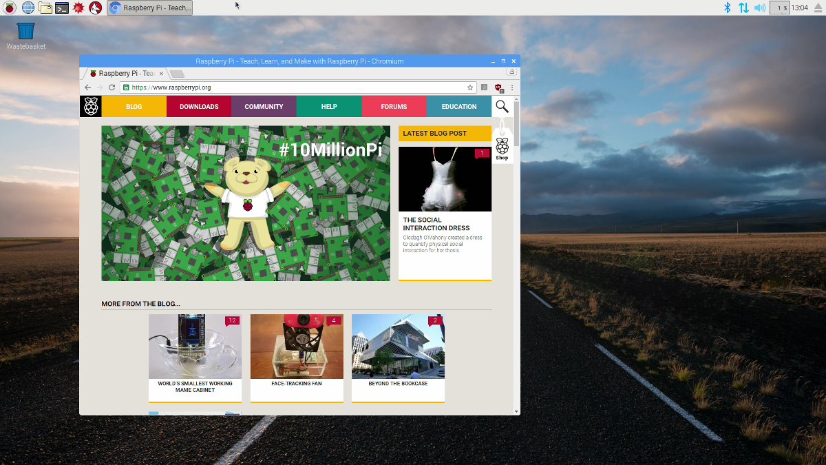 Chromium is now the default browser in the Raspberry Pi