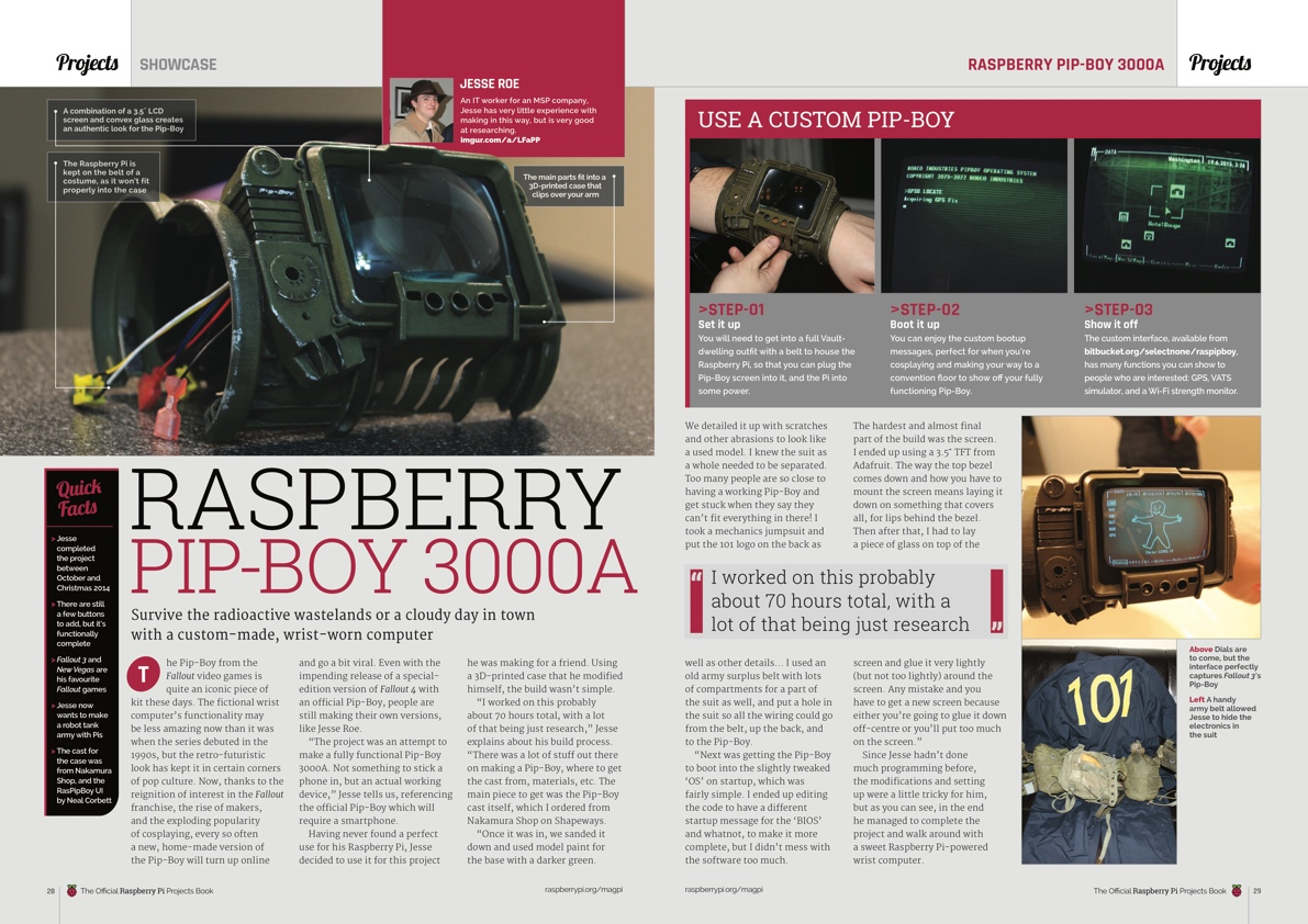 Raspberry Pi Official Projects Volume 2 Pip Boy
