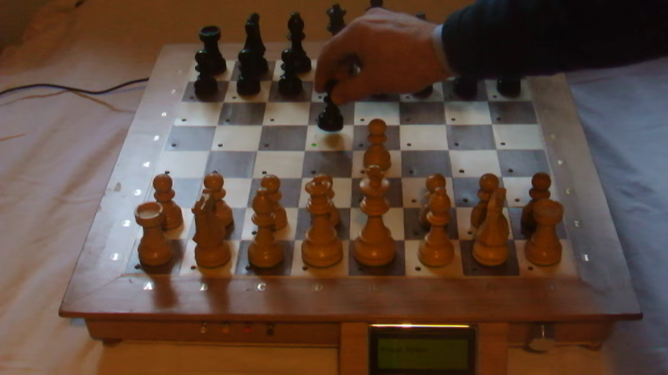 Chess Board Play Against Raspberry Pi With Real Pieces
