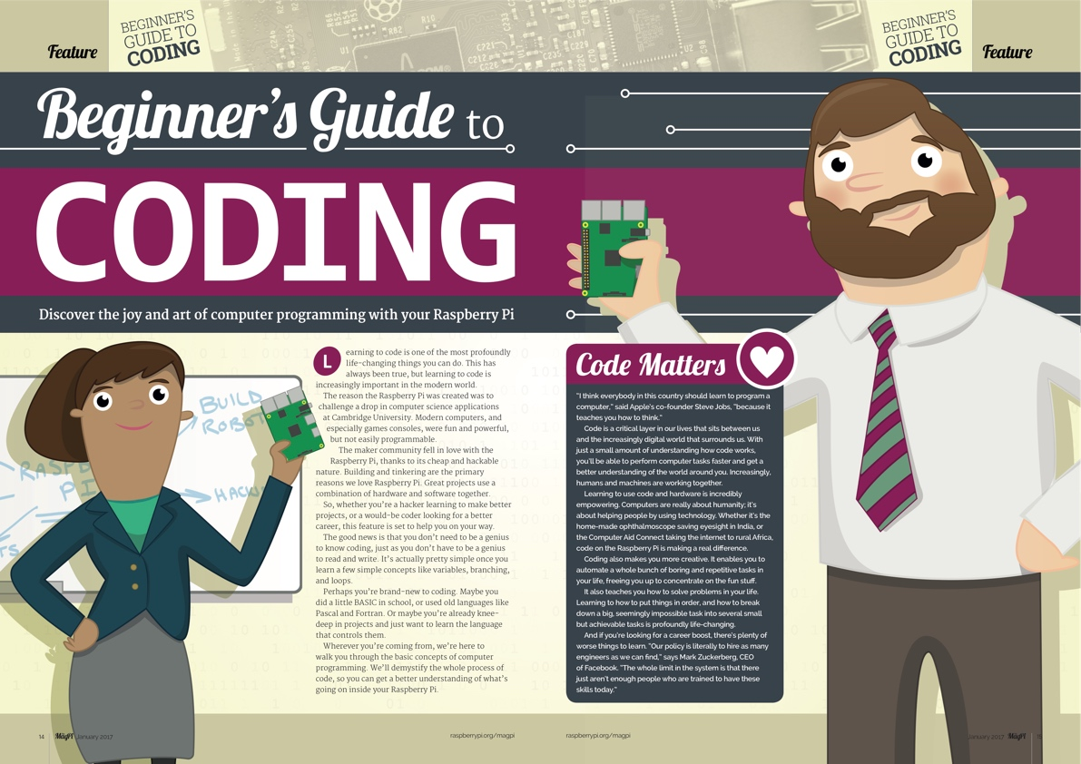 The MagPi 53 Beginner's Guide to Coding