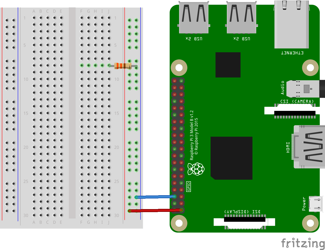 how to connect components on a breadboard