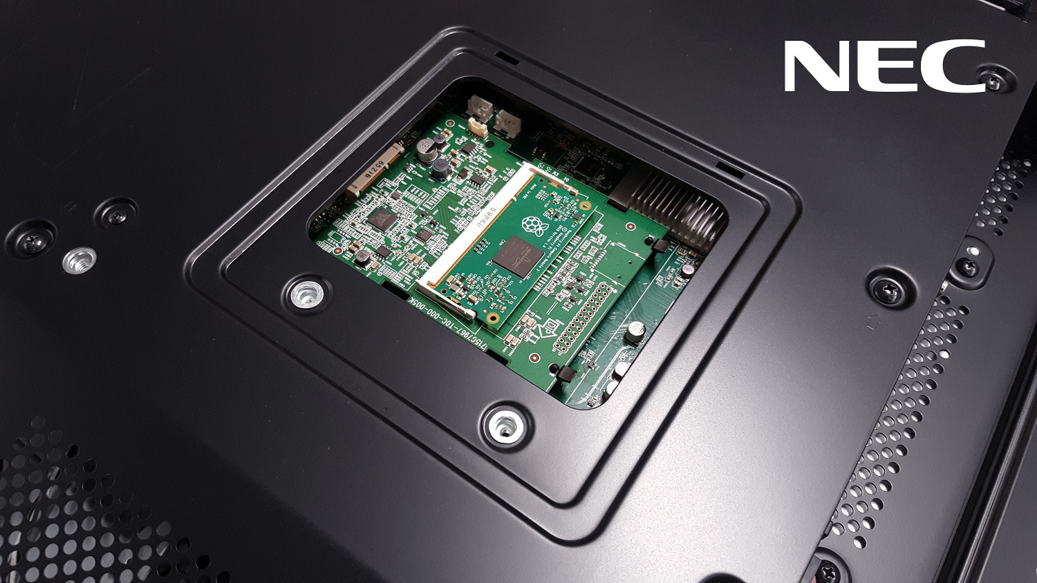 The Compute Module 3 will be used in NEC's new range of smart, large-format displays