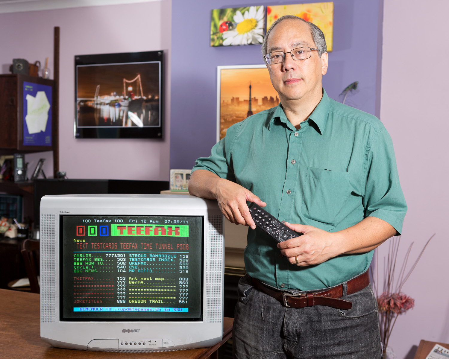 Peter Kwan is a former Teletext engineer and the creator of this project