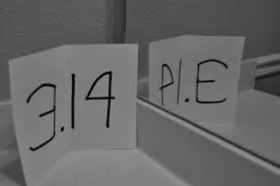 Pi 3.14 spells PIE in mirror