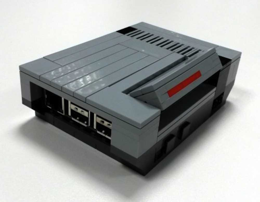 Lego nes case for raspberry pi make a retro games console for Consolle lago