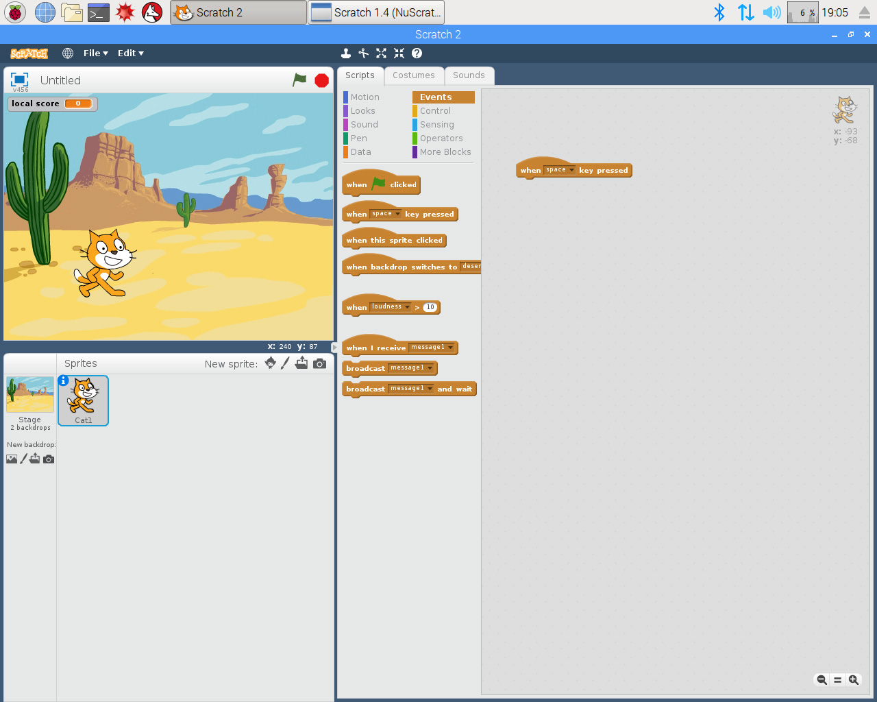 Scratch 2.0 for Raspberry Pi tutorial