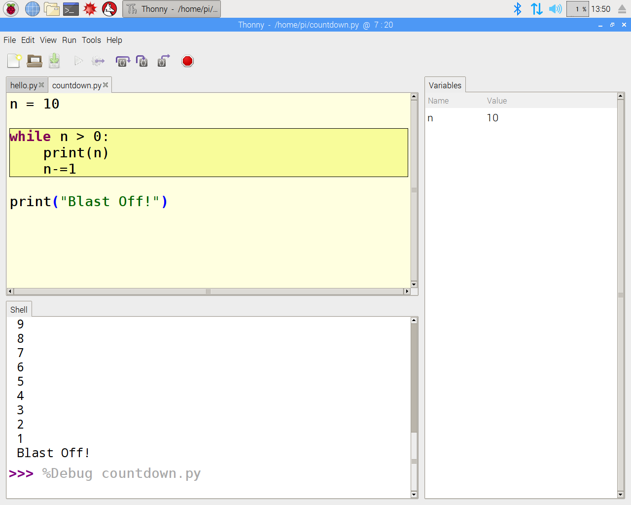 Thonny on a Raspberry Pi: using the new Python IDE in