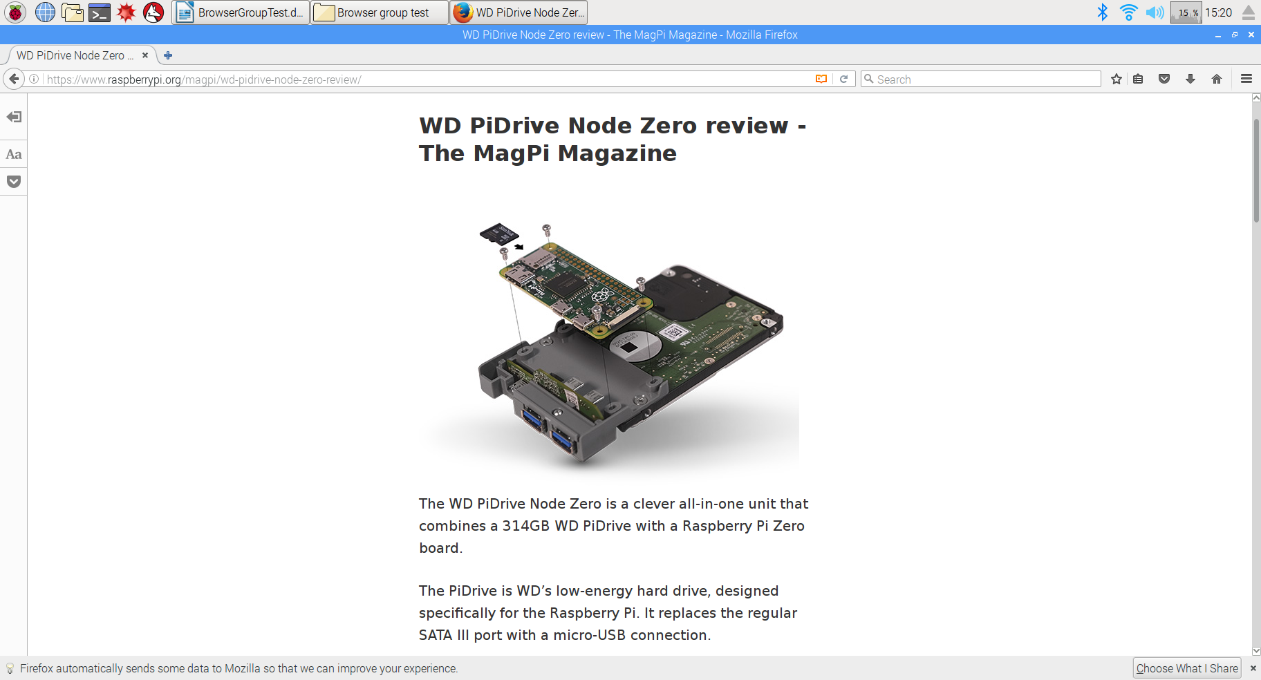 Raspberry Pi web browser group test - The MagPi MagazineThe