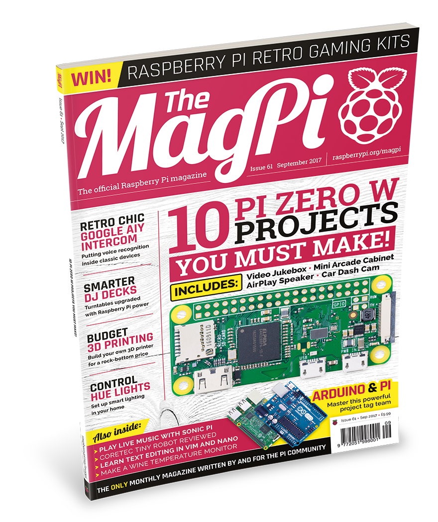 Issue 61 - The MagPi MagazineThe MagPi Magazine
