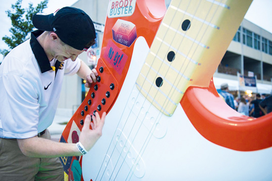 Giant Guitar installation