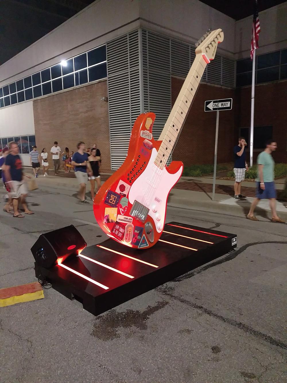 Giant Guitar The 12 Foot Electric Guitar Built Using Raspberry Pi