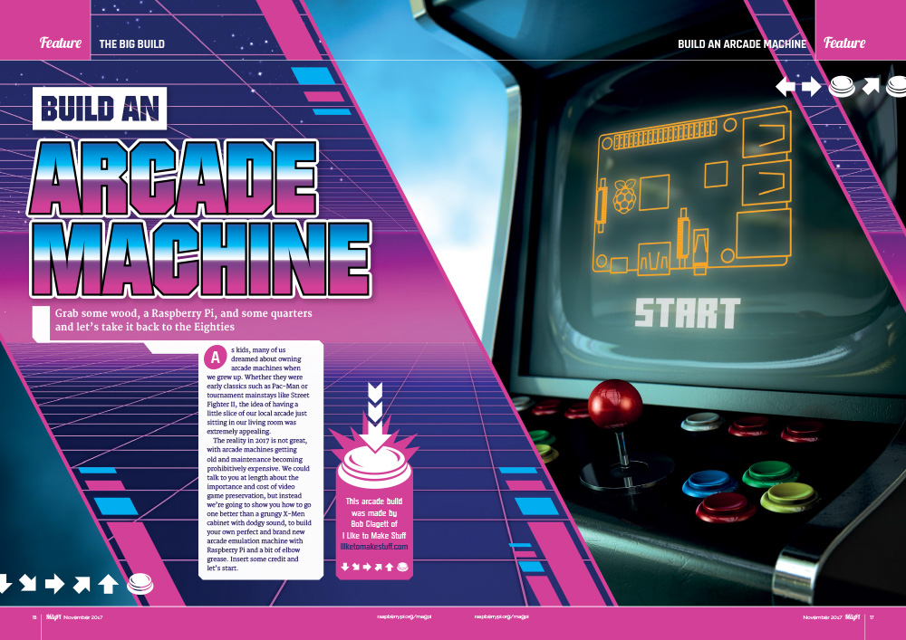 Build an arcade machine in The MagPi 63 - The MagPi MagazineThe ...