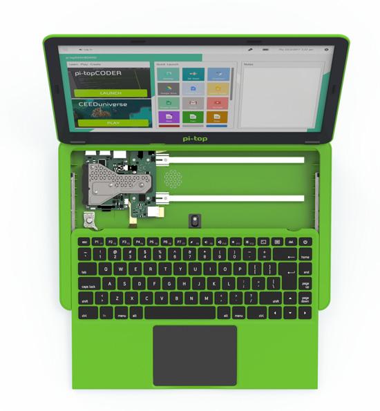 New pi-top laptop sliding keyboard