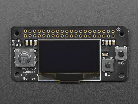 128×64 OLED Bonnet review: Pi Zero W screen with controls