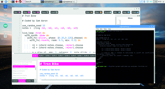 Live-coding online with Sonic Pi: code music and perform