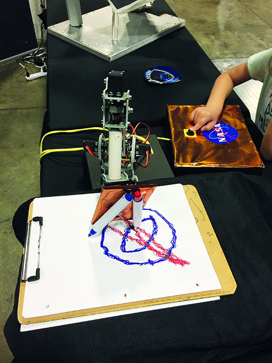 NASA robot artist draws shapes with Raspberry Pi - The MagPi