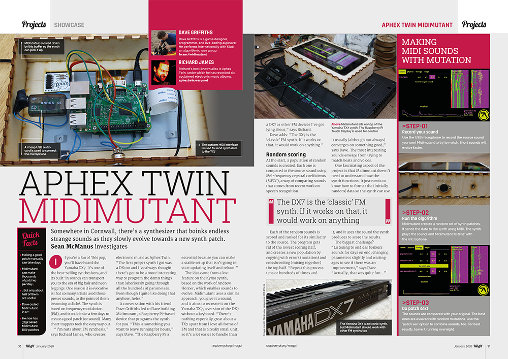Aphex Twin Midimutant : synthesizers