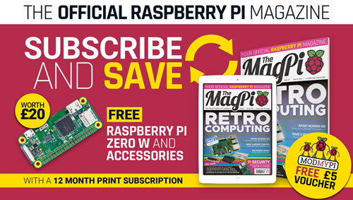 Free £5 Voucher and Pi Zero W with subscription