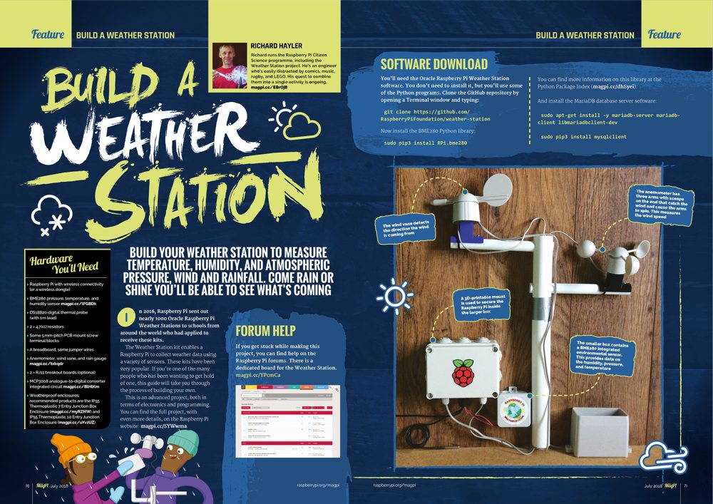 The MagPi 71 Weather Station Feature