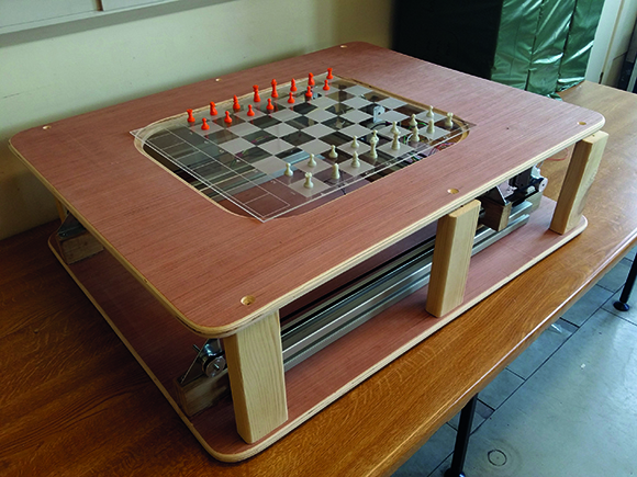 Ghost Chess: using electromagnets to move board pieces - The MagPi
