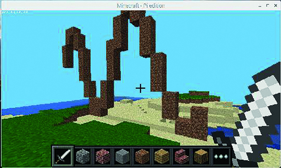 Figure 2: Minecraft and Wolfram Language
