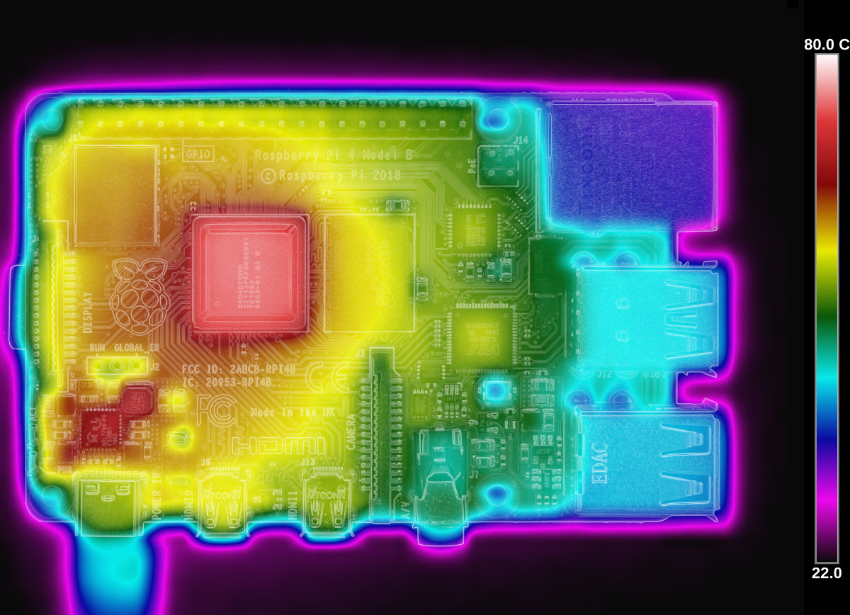 Raspberry Pi 4 thermal image